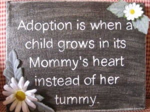 adoption grow in mommy's heart not tummy