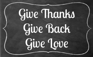 chalkboard give thanks give love