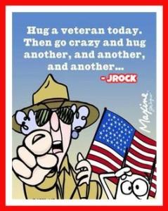 Hug a vet jrock