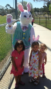 easter bunny cropped with kids