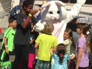 easter bunny hugs