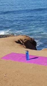 yoga mat sunset cliffs